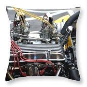 Vintage Hotrod Engine Throw Pillow