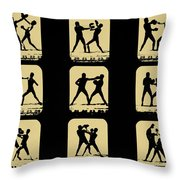 Vintage - How To Box Throw Pillow by Digital Reproductions
