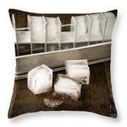 Vintage Ice Cubes Throw Pillow by Edward Fielding