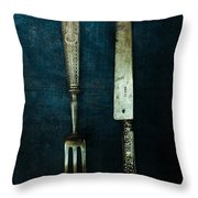 Vintage In Blue Throw Pillow