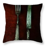 Vintage In Red Throw Pillow