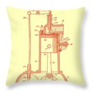 Vintage Internal Combustion Engine Patent 1940 Throw Pillow
