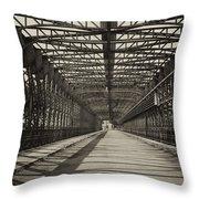 Vintage Iron Truss Bridge Throw Pillow