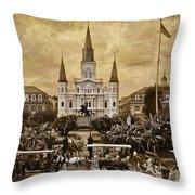 Vintage Jackson Square Throw Pillow