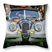 Vintage Jaguar -0924c Throw Pillow