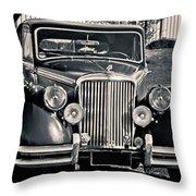 Vintage Jaguar 1950s Throw Pillow