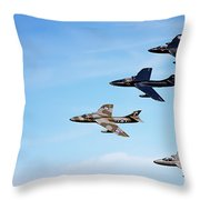 Vintage Jetplanes In Formation. Throw Pillow