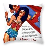 Vintage Jetsuit Advertisement Throw Pillow