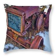 Vintage John Deere Throw Pillow by Inge Johnsson
