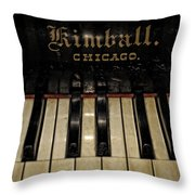 Vintage Kimball Piano Throw Pillow