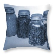Vintage Kitchen Glass Jar Canning Throw Pillow