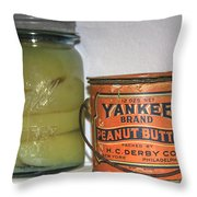 Vintage Kitchen Pantry Pairs And Peanut Butter Throw Pillow