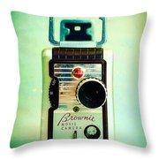Vintage Kodak Brownie Movie Camera Throw Pillow