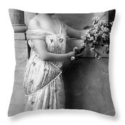 Vintage Lady I  Bw Limited Sizes Throw Pillow