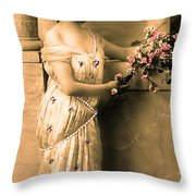 Vintage Lady I  Throw Pillow