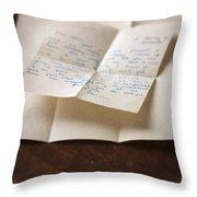 Vintage Letter Throw Pillow