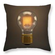 Vintage Light Bulb Throw Pillow by Scott Norris