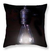 Vintage Lightbulb Throw Pillow