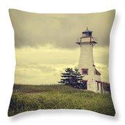 Vintage Lighthouse Pei Throw Pillow