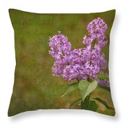 Vintage Lilac Bush Throw Pillow