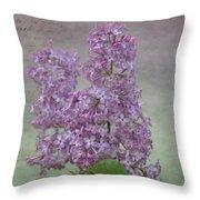 Vintage Lilacs Throw Pillow