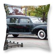 Vintage Lincoln Limo 1941 Throw Pillow