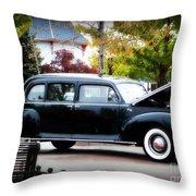Vintage Lincoln Limo II Throw Pillow