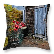 Vintage Lobster Shack Throw Pillow