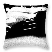 Vintage Lotus At Speed Throw Pillow