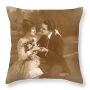 Vintage Lovers Throw Pillow
