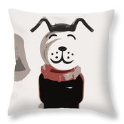 Vintage Lucky Dog Throw Pillow by Jennifer Rondinelli Reilly - Fine Art Photography