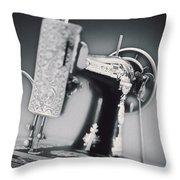 Vintage Machine Throw Pillow