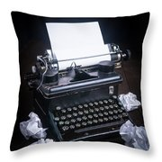 Vintage Manual Typewriter Throw Pillow