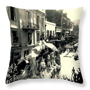 The City That Care Forgot New Orleans Throw Pillow