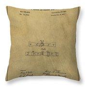 Vintage Mark Twain Patent Throw Pillow