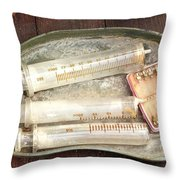 Vintage Medical Tools Throw Pillow