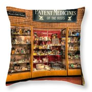 Vintage Medicine Throw Pillow