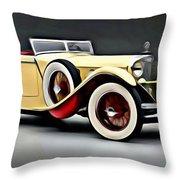 Vintage Mercedes Convertible Throw Pillow