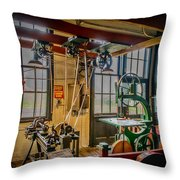 Vintage Michigan Machine Shop Throw Pillow