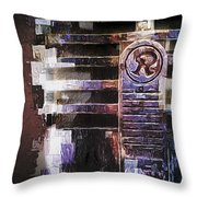 Vintage Microphone Painted Throw Pillow