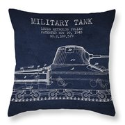 Vintage Military Tank Patent From 1945 Throw Pillow