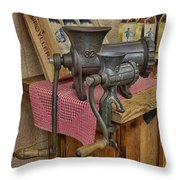 Vintage Mincers Throw Pillow