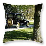 Vintage Moments Ford Tudor Model A Throw Pillow