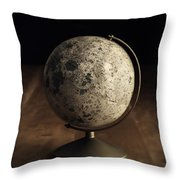 Vintage Moon Globe Throw Pillow