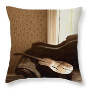 Vintage Music Throw Pillow