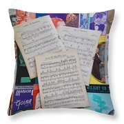 Vintage Music Sheets No.2 Throw Pillow