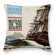 Vintage Mutiny On The Bounty Movie Poster 1962 Throw Pillow