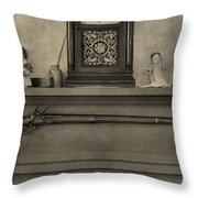 Vintage Muzzleloader Over Fireplace Throw Pillow