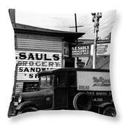 Vintage New Orleans 1936 Throw Pillow
