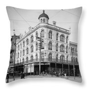 Vintage New Orleans 4 Throw Pillow